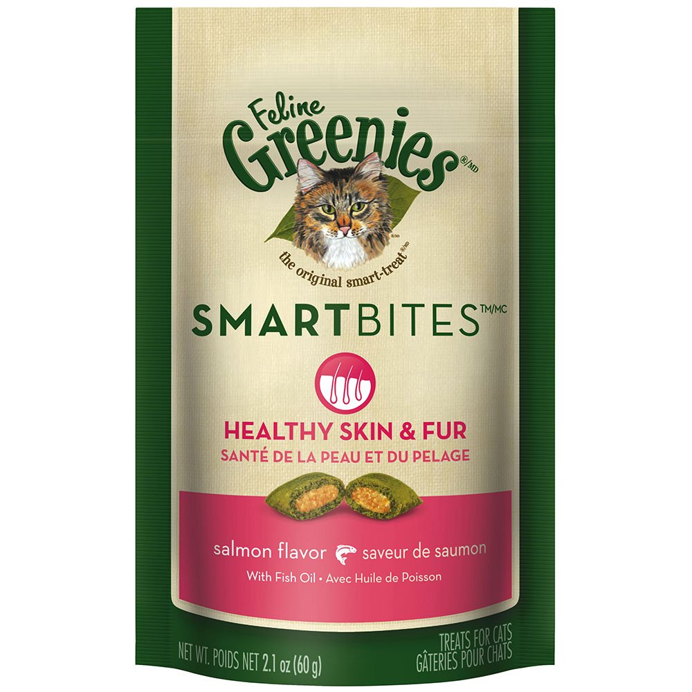 Feline GREENIES SMARTBITES Cat Treats Skin & Fur Salmon 2.1 oz