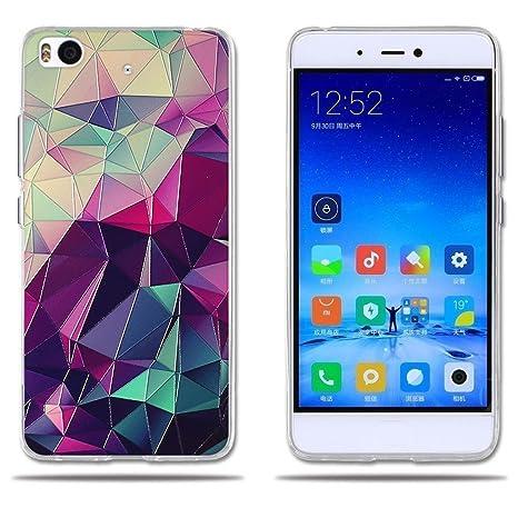FUBAODA Funda Xiaomi Mi5S Carcasa de Silicona Transparente TPU, 3D Relear,Dibujo de Colorido Cubo Mágico, Flexible Amortigua los Golpes, Funda Protectora para Xiaomi Mi5S (5.15