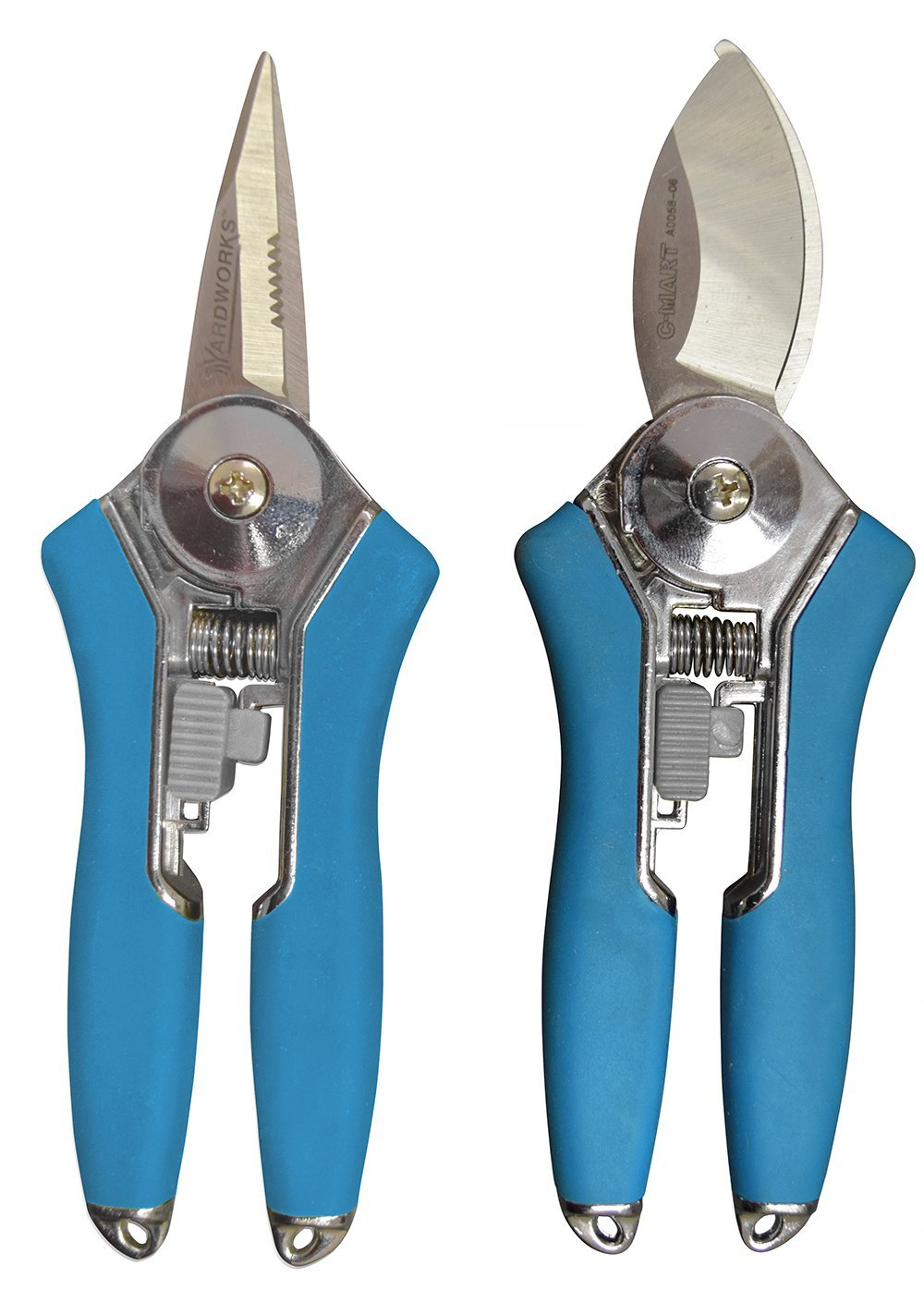 Radius Garden 2-Piece Pruning Tool Set - Includes Floral Shear and Mini Bypass Pruner, Blue