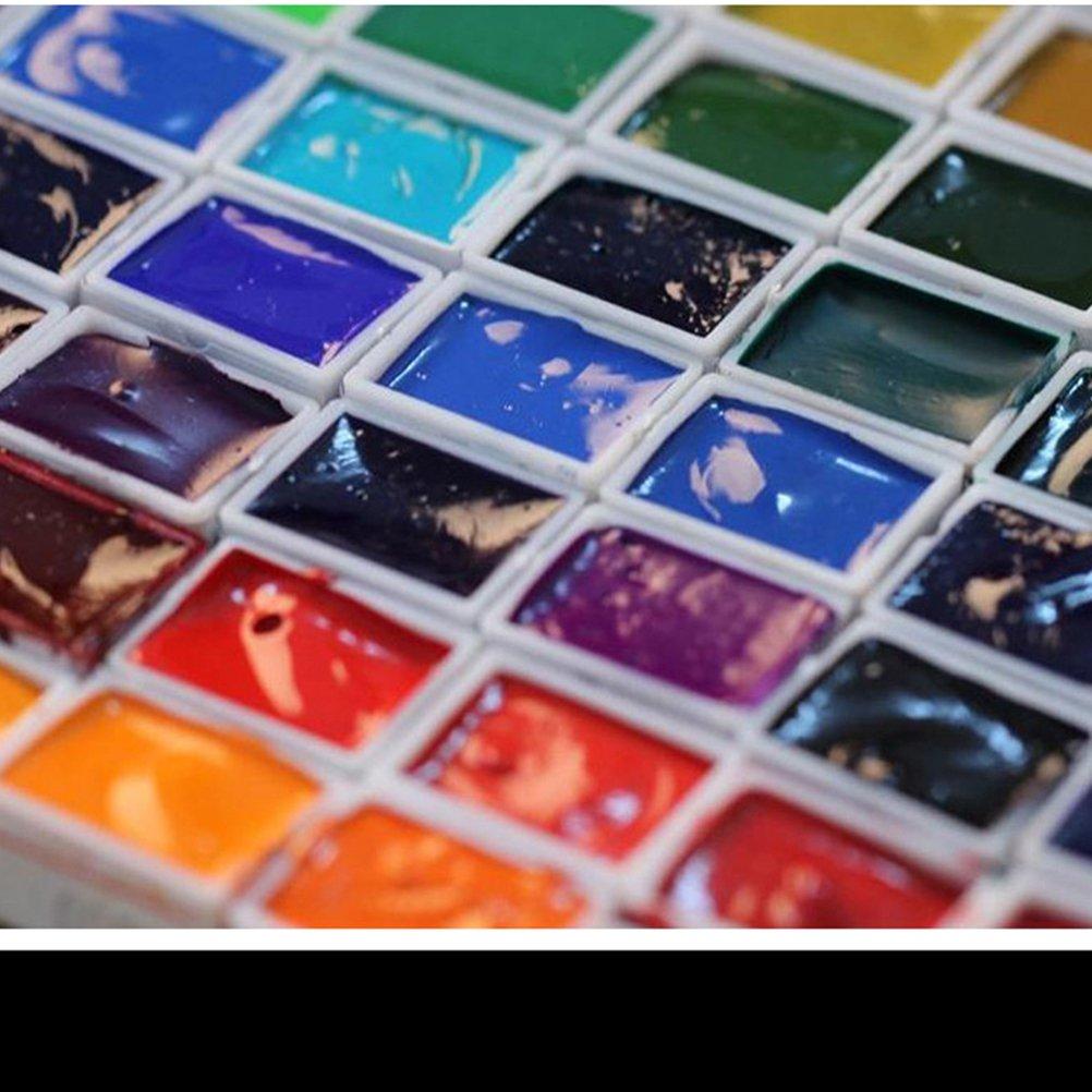 ultnice vac/ío Watercolor Pans acuarela pintura mitad Pans pl/ástico sartenes para pintura unidades 50