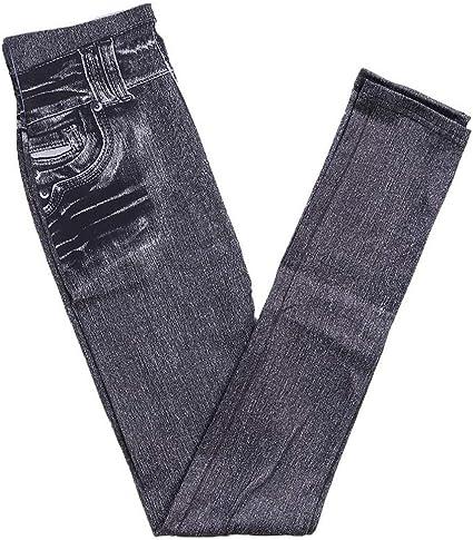 YAYAS Thermique Polaire Denim Jeggings Faux Jeans Slim Crayon Pantalon