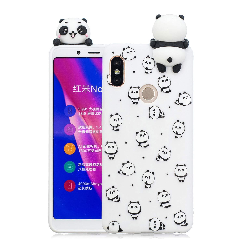 HopMore Coque Xiaomi Redmi Note 5 (Note 5 Pro) Silicone Souple 3D Design Motif Licorne Panda Drô le Mignonne Etui Redmi Note 5 É tui Antichoc Ultra Mince Fine Gel pour Fille Femme - Chat Blanc Xiaomi Redmi Note 5 ( Note 5 Pro )