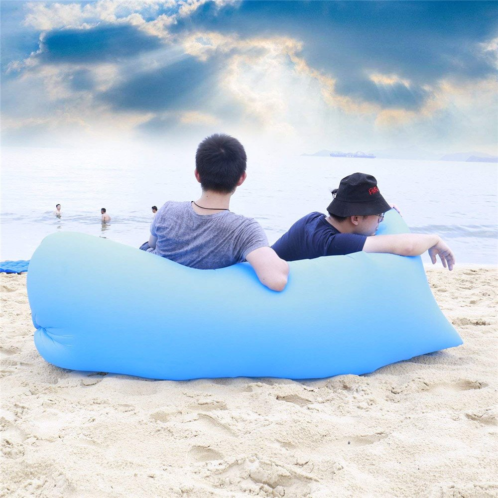 fhx22 Tumbona inflable con bolsa de transporte, tumbona de ...
