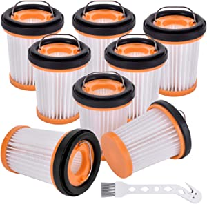 Techypro 8 Pack Replacement Fabric Vacuum Filter for Shark ION W1 S87 Cordless Handheld Vacuum WV200, WV201, WV205, WV220. Compare to Part # XHFWV200 (8 Pack Wandvac Filter)