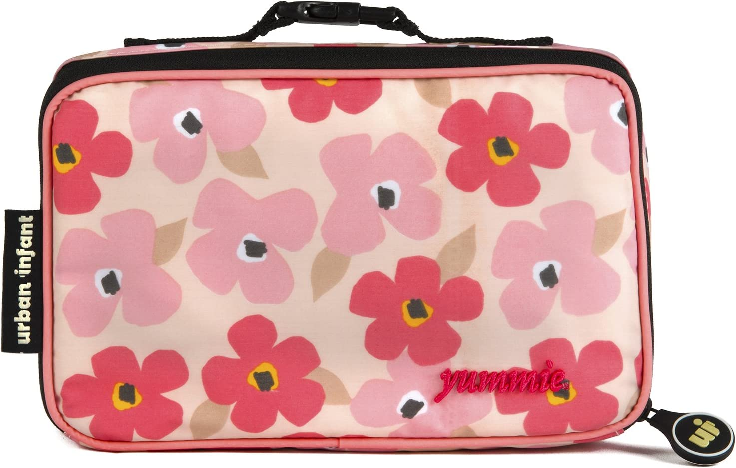 Urban Infant Yummie Lunch Bag with Allergy Alert Cards - Poppies