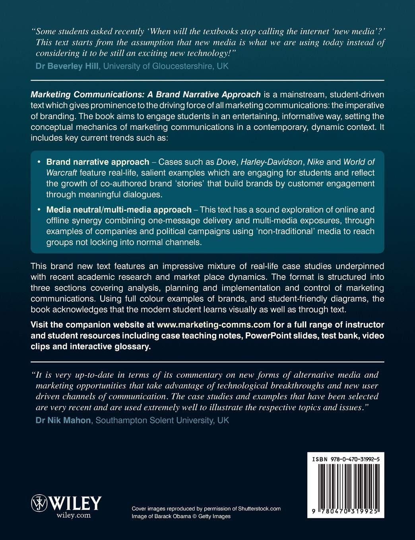 be35740d06 Marketing Communications: A Brand Narrative Approach: Amazon.co.uk: Dahlen:  9780470319925: Books