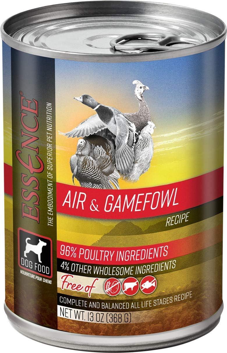 Essence Air & Gamefowl Grain-Free Canned Dog Food 13 oz (Flat of 12)