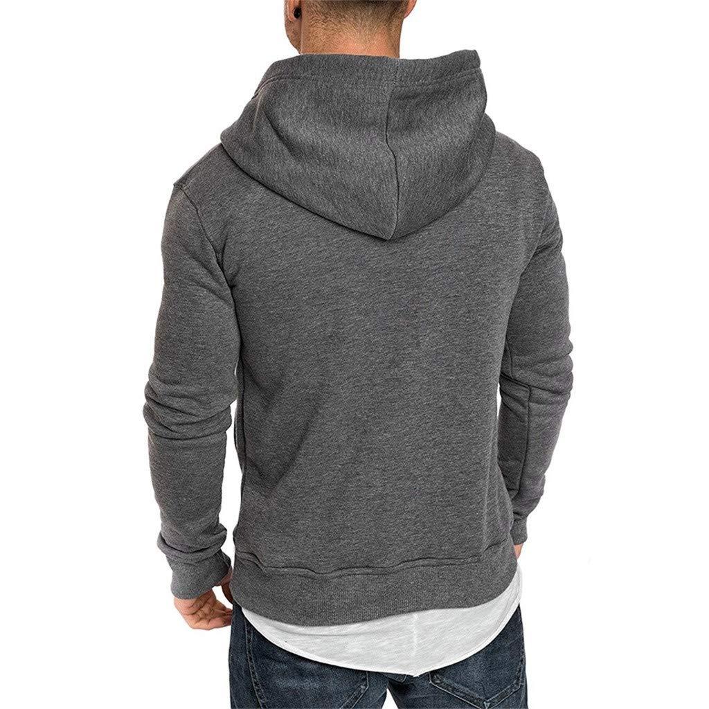 SIOPEW Kapuzenpullover Herren Mit Kapuze Winter Basic Style Sweatshirt Hoher K/äNguru-Tasche Gerippte /ÄRmel Und Abschlussb/üNdchen Baumwolle Sweatjacke Pullover Casual Sport Streetwear