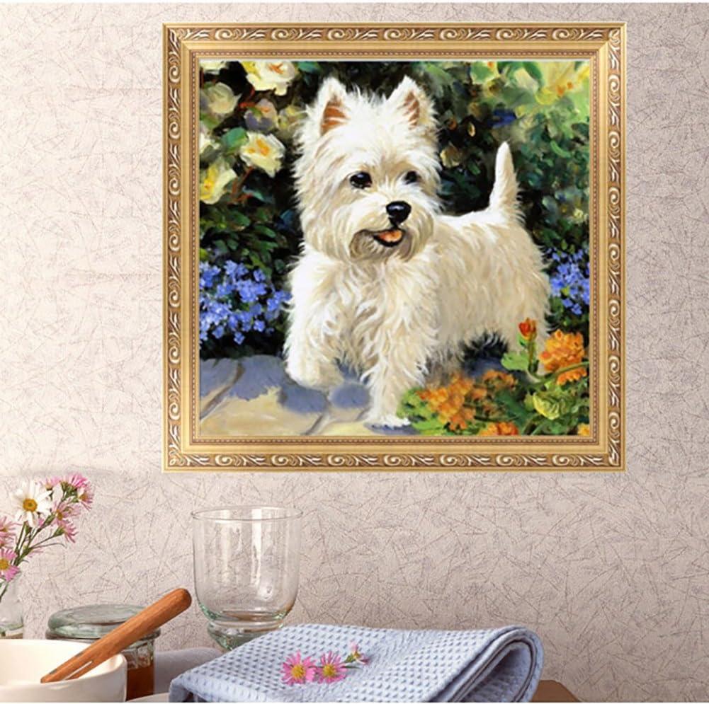 decorazione per la casa per feste Quadro 5D fai da te con strass a forma di cane con ricamo a punto croce