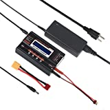 HOBBYMATE Elite Balance Charger 6A/80W W/ AC Power Supply, Internal Resistance Meter, for LiHv Lipo Nimh Nicd Pb