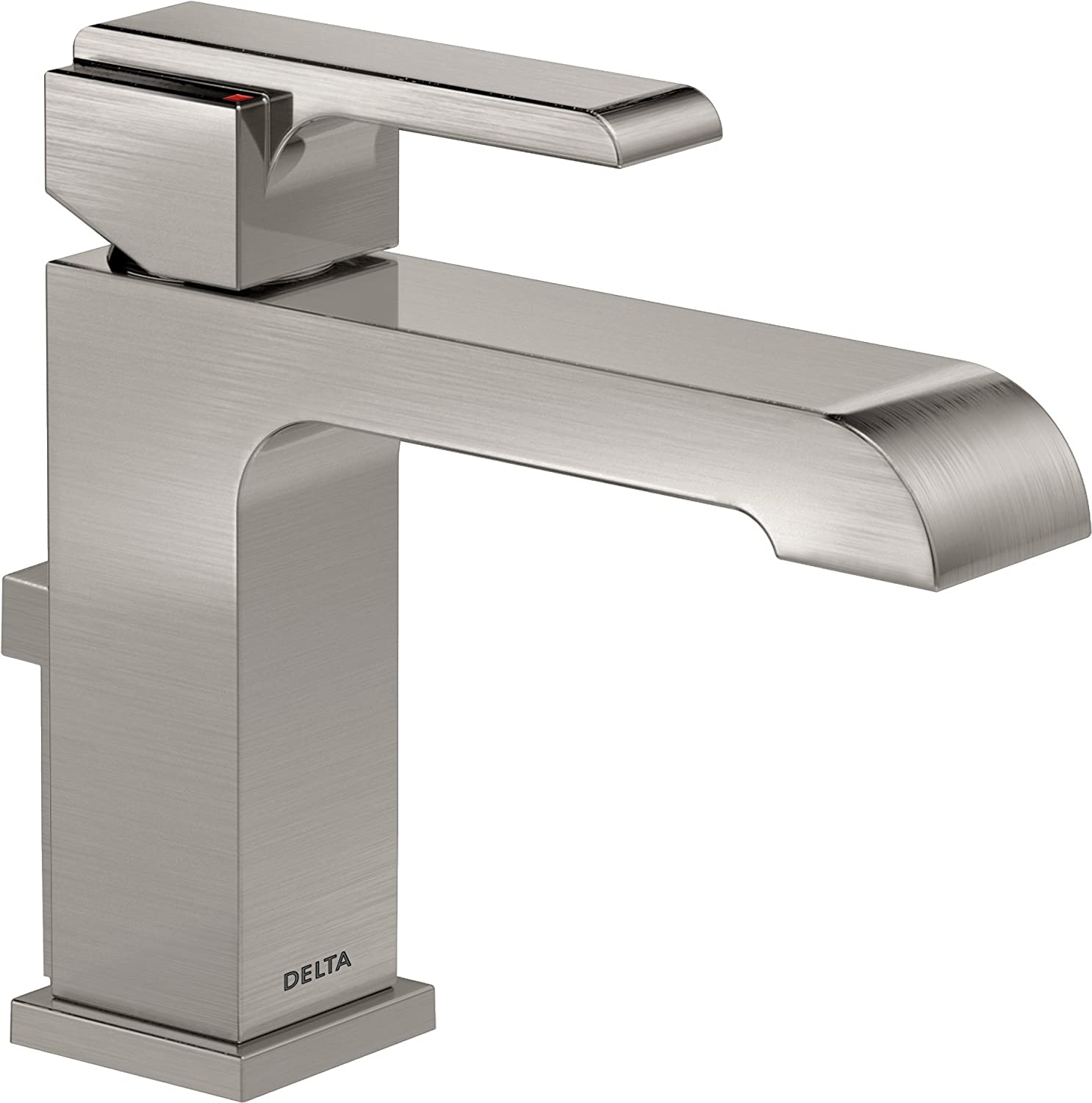 White bathroom faucet - Delta Faucet 567lf Ssmpu Ara Single Handle Bathroom Faucet Stainless Amazon Com