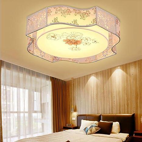 BiuTeFang Lámpara de techo para dormitorio redonda moderna ...