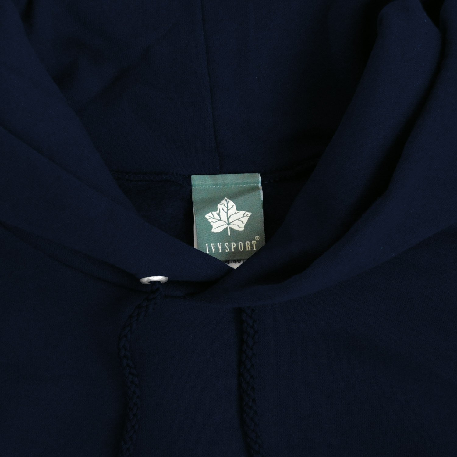 Ivysport Columbia University Cotton Hooded Sweatshirt with Front Pocket with Official Crown Logo Navy Hooded Sweatshirt