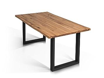 Esstisch wildeiche baumkante  moebel-eins Tobago Baumkantentisch Esstisch Wildeiche Holztisch ...
