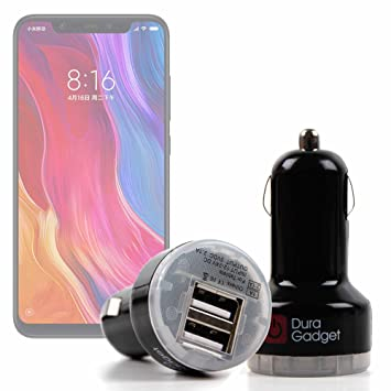 DURAGADGET Cargador Mechero del Coche para Smartphone Xiaomi Mi 8 ...