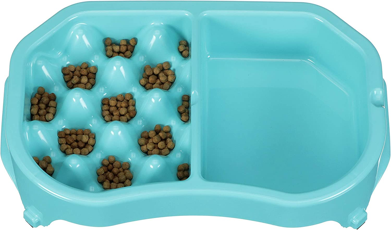 Neater Pet Brands - Neater Slow Feeder - Fun, Healthy, Stress Free Dog Bowl Helps Stop Bloat Prevents Obesity Improves Digestion (2.5 Cup, 6 Cup, Double Diner/w Water Bowl)