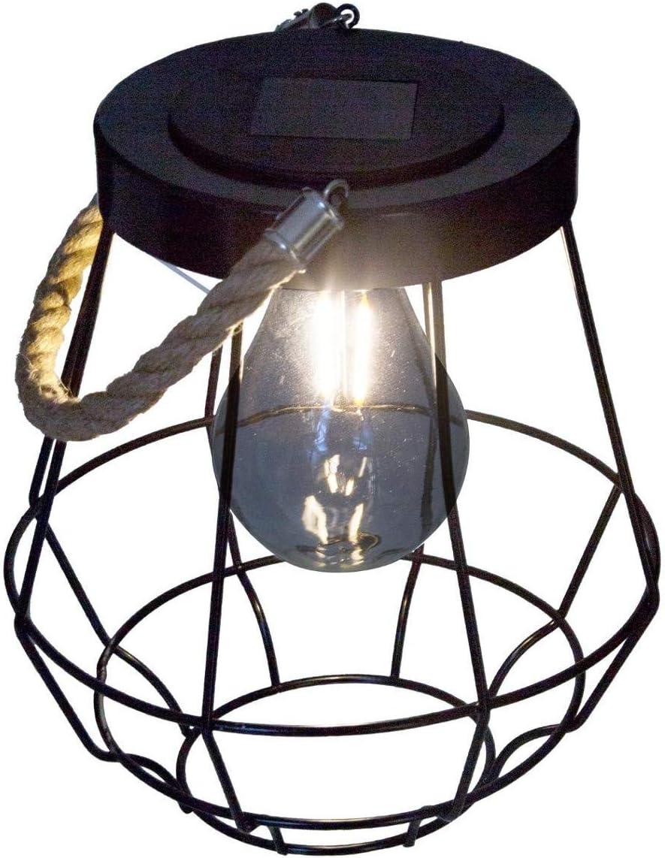 Atmosphera Lanterne Solaire en m/étal et Corde H 20 cm