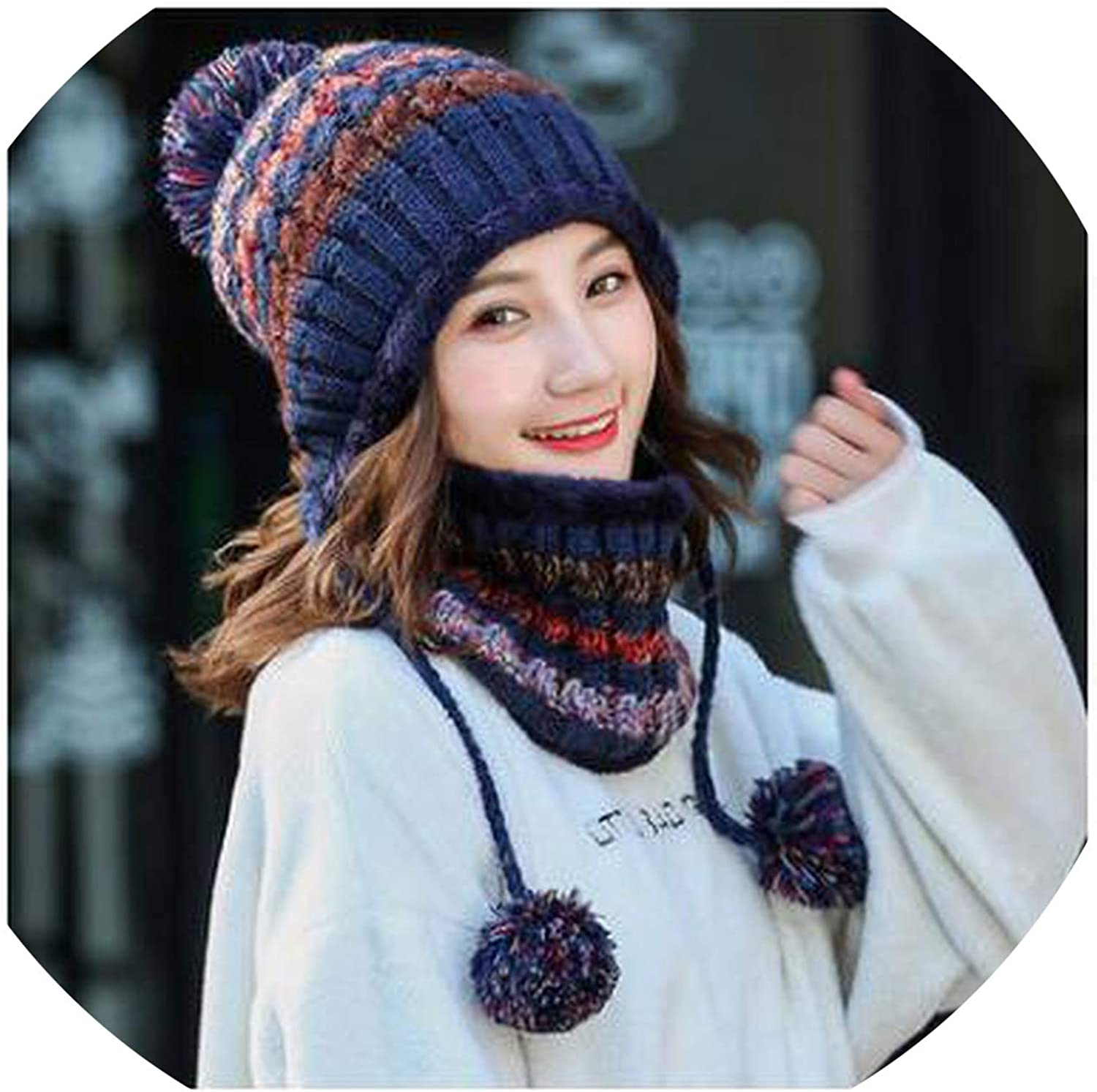 Hat Women Winter Knitted...