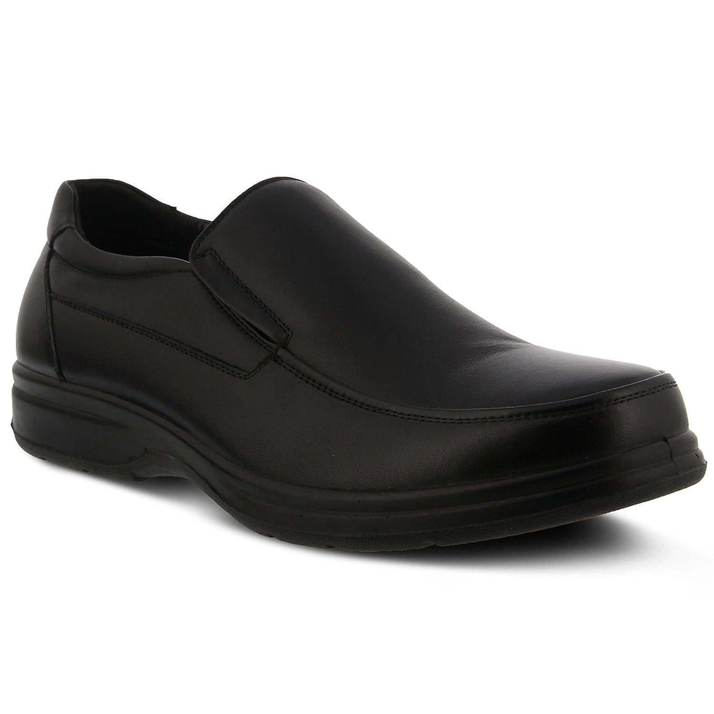 Spring Step Devon Mens Slip-On Shoe Color Black Slip-On Loafer with Elastic Side