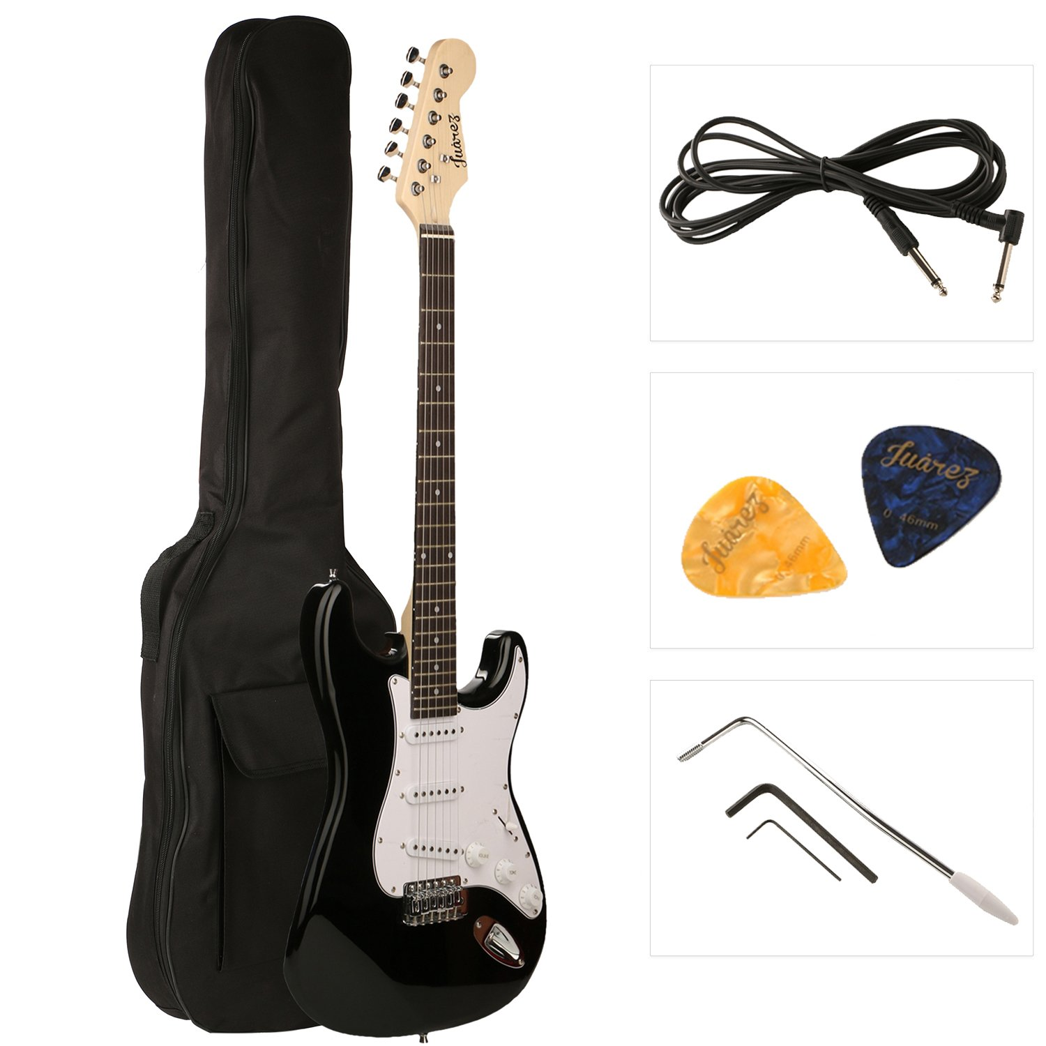 Juarez JRZ-ST01 6-String Electric Guitar, Right Handed,