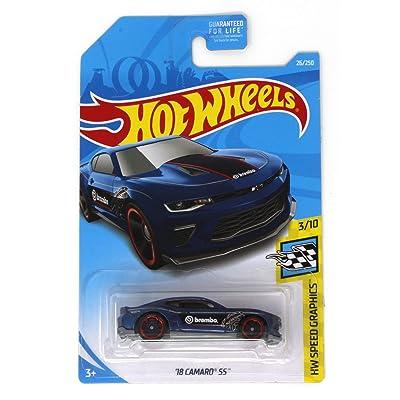 Hot Wheels 2020 HW Speed Graphics '18 Camaro SS 26/250, Blue: Toys & Games