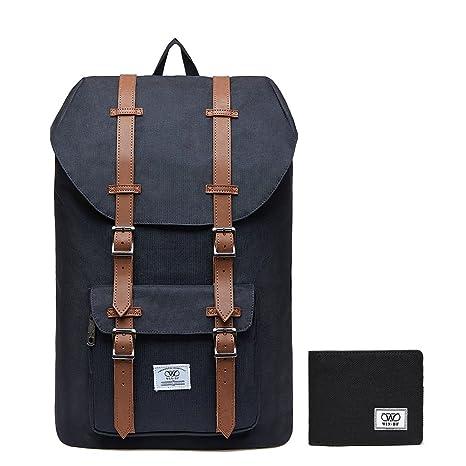 ed6d1ab47ac0 KAUKKO Laptop Outdoor Backpack Win·DF College Schoolbag Bookbag Travel  Hiking Rucksack fits 15-