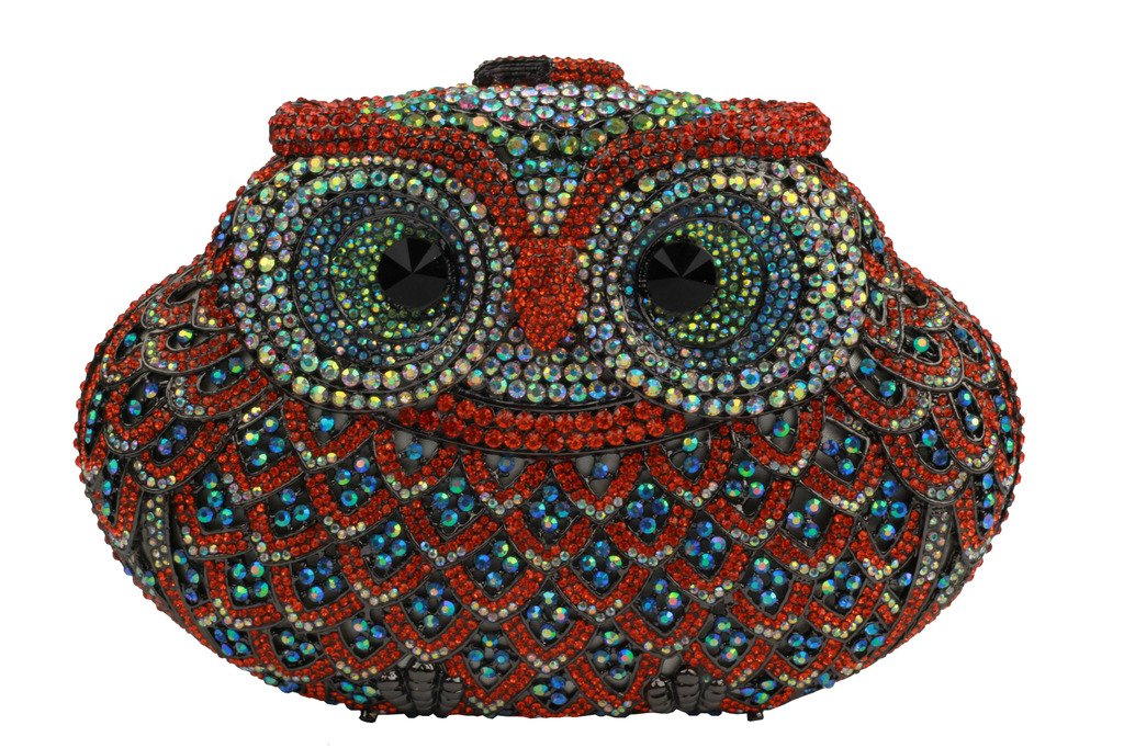YILONGSHENG Owl Style Diamond Evening Handbags EB0708 Multicolor by YILONGSHENG