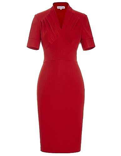 Belle Poque Women 50s Bodycon Dress Slim Fit Vintage Pencil Dress BP106/146