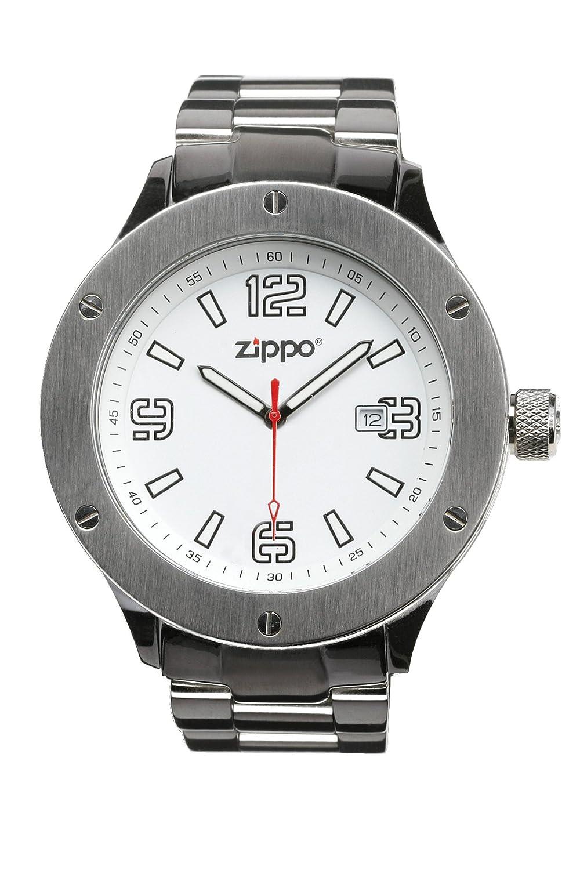 Zippo 45006 - Reloj para hombres, correa de acero inoxidable color plateado: Amazon.es: Relojes