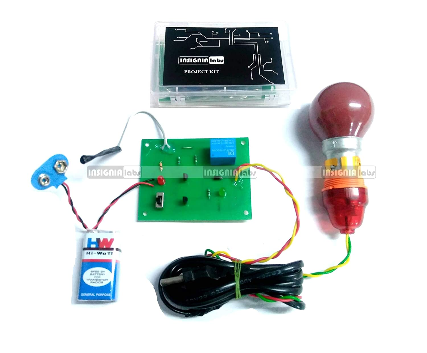 Ldr Sensor Based Ac Light Bulb Control Project Kit Electronic Projects Circuit School College Industrial Scientific
