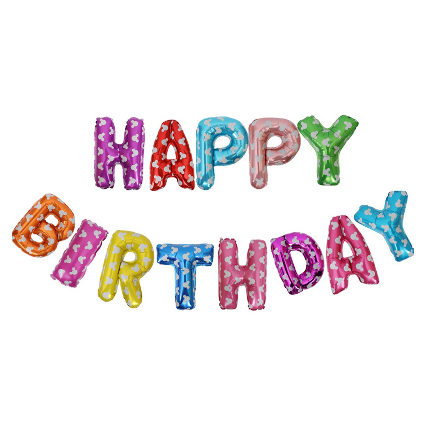 Amazon 16 HAPPY BIRTHDAY Alphabet Letters Balloons Foil Mylar Party Decoration Toys Games