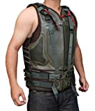 Green Military Mens Leather Vest ►BEST SELLER◄