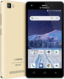 """4G Unlocked, Unlocked Smartphone, 5.0"""" Android 8.1 Cell Phones Unlocked 4g LTE, 1GB RAM+8GB ROM - Golden"""