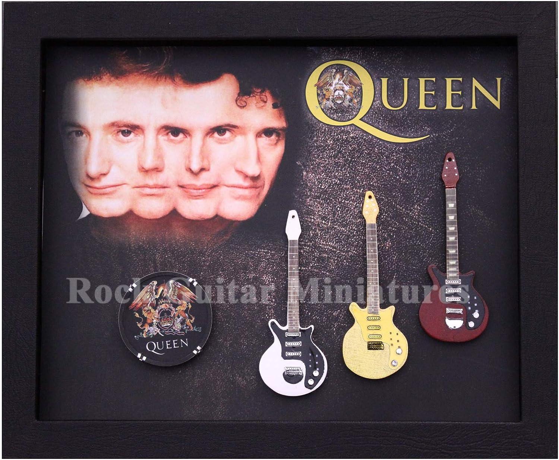 RGM9044 Queen colección de Guitarra en Miniatura en Marco de Caja ...