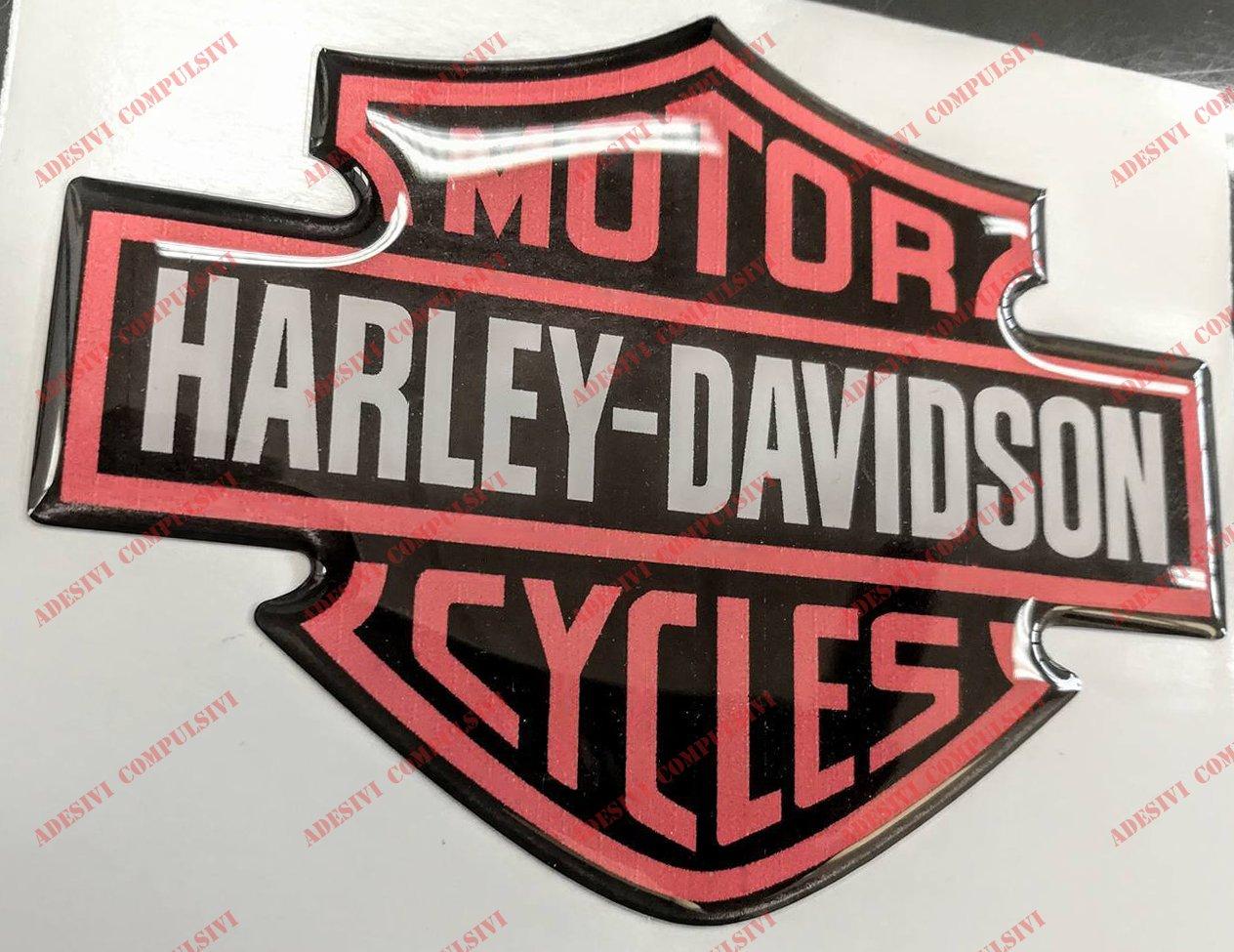 Orange Pour r/éservoir ou casque. D/ôme autocollant logo classique Harley Davidson effet 3D