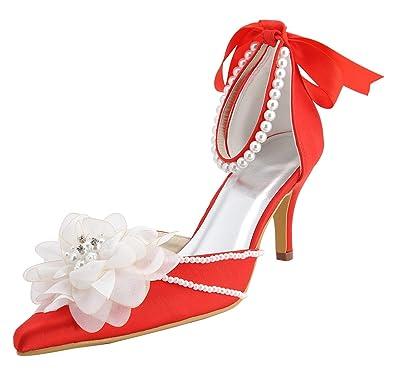 Kevin Fashion Damen Hochzeitsschuhe Rot Rojo Rojo Grosse