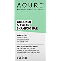 ACURE Coconut & Argan Shampoo Bar | 100% Vegan | Performance Driven Hair Care | All-In-One shower Solution | Palm Oil Free - For Body & Hair | 1 Bar