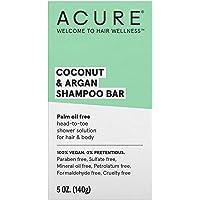 ACURE Coconut & Argan Shampoo Bar | 100% Vegan | Performance Driven Hair Care |...