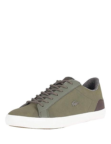 Lacoste Hombre Lerond 318 2 CAM Zapatillas de Cuero, Verde: Amazon.es: Zapatos y complementos