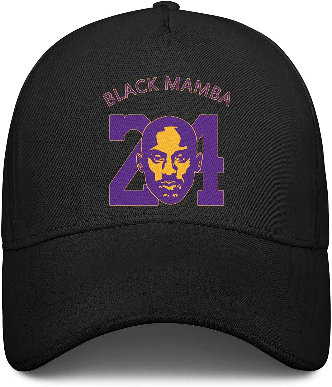 BeercsDD2 Mens Fitted Hat Adjustable Basketball Player Mamba 24 Personalized Plain Baseball Caps