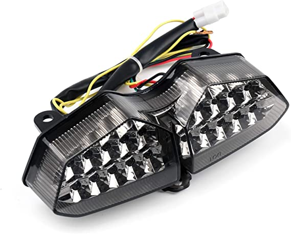 Artudatch Feu arri/ère LED pour moto 12 V Feux arri/ère LED int/égr/és avec clignotants pour Yamaha YZF R6 2003-2005 R6S 2006-2008