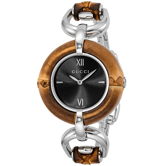 452a9a261f1 Gucci Bamboo Black Dial Ladies Watch YA132407  Amazon.ca  Watches