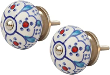 """SET of 12 Sky Blue Ceramic Buttons 3//8/"""""""