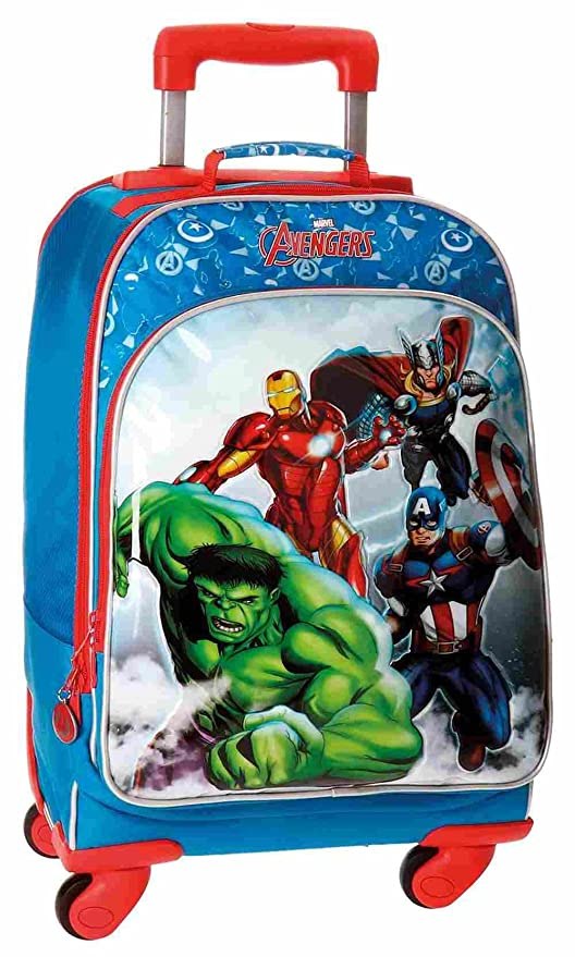 Trolley Convertible Mochila 4 Ruedas Avengers Clouds