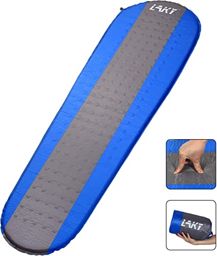 LAKY Self Inflating Sleeping Pad for Camping – 1.5 Inch Camping Foam Pads, Lightweight, Best Foam Sleeping Mats for Backpacking, Hiking, Inflatable Durable Comfortable Compact Sleeping Mattress