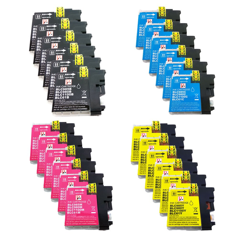 PerfectPrint - 24 PerfectPrint Compatible Tinta cartuchos Reemplazar LC-985 / LC985 For Brother MFC-J220 MFC-J265W MFC-J410 DCP-J125 DCP-J315W ...