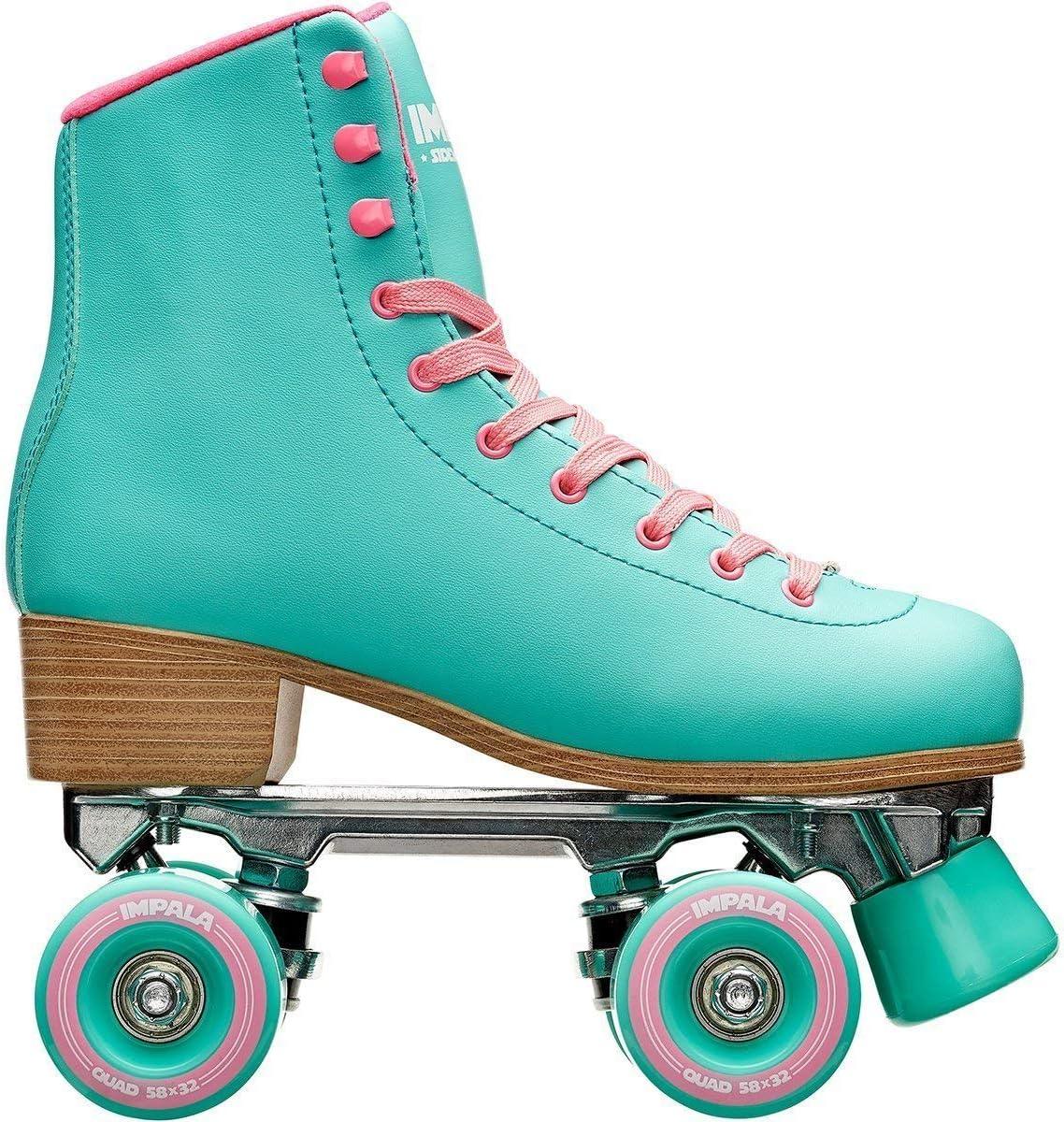 US Mens 1, Womens 3 Leopard 3 Impala Rollerskates Girls Impala Quad Skate Big Kid//Adult