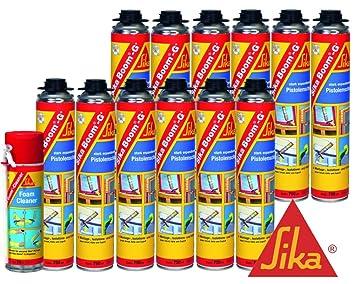 Sika Boom g + Espuma de montaje nevera Set 12 x Boom g + Incluye limpiador O. Pistola de espuma: Amazon.es: Bricolaje y herramientas