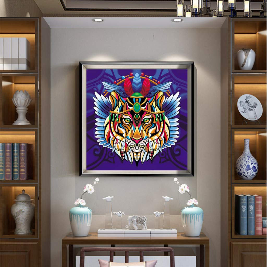 Allywit Special Shaped Diamond Painting DIY 5D Owl Partial Drill Cross Stitch Kits t Best Gift
