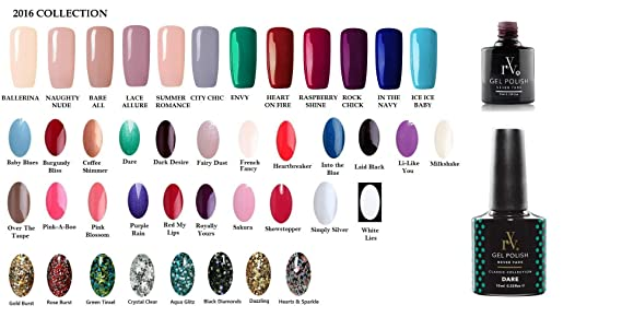 Gel Nail Polish Starter Kit with LED Lamp & Your Choice of 4 Colours by RYV